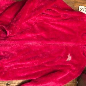 North Face fuzzy full zip jacked